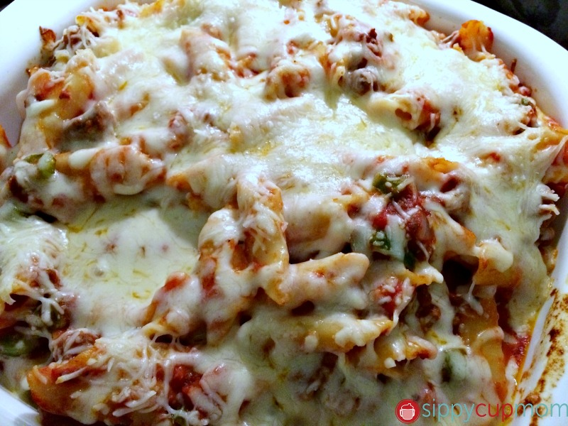 Baked Mostaccioli Close-Up