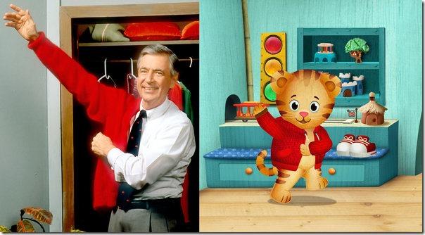 Mr. Rogers and Daniel Tiger