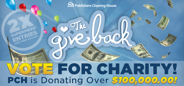 Give Back with Publishers Clearing House! #PCHGiveBack
