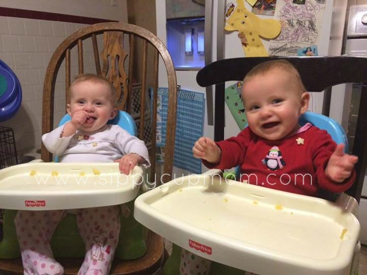 Evie and Olivia Eating