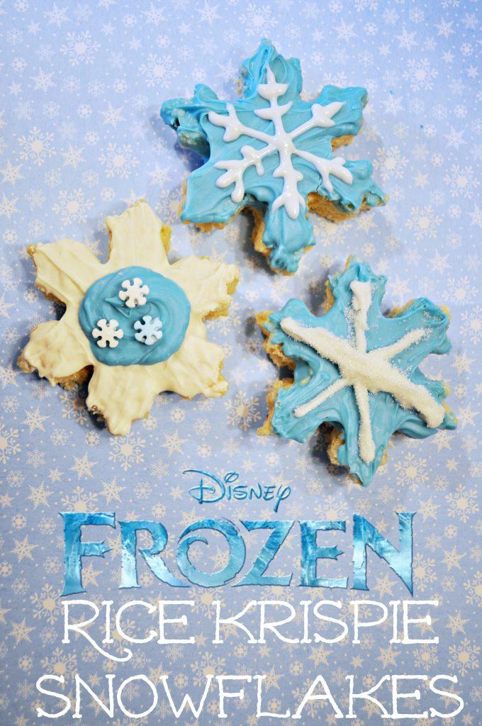 Frozen Rice Krispie Snowflakes