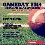 Win a Rug Doctor Mighty Pro X3 Machine on Instagram! #GameDayCleanUp
