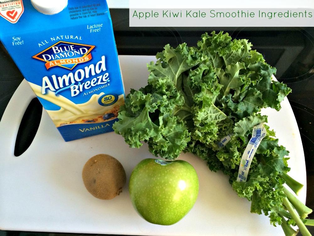 Apple Kiwi Kale Smoothie Ingredients