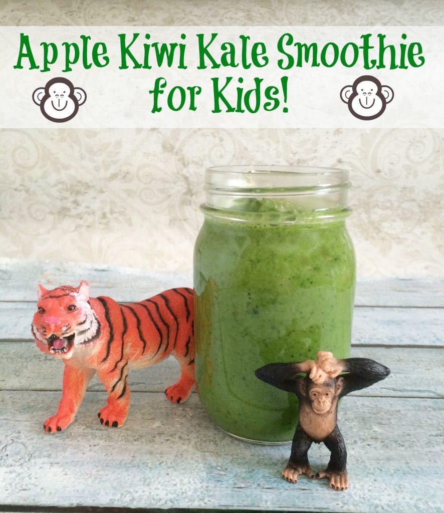 Apple Kiwi Kale Smoothie for Kids