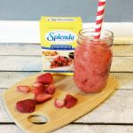 Valentine's Day Strawberry Orange Smoothie with SPLENDA® #Moms4JNJConsumer