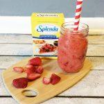 Valentine's Day Strawberry Orange Smoothie with SPLENDA® #Moms4JNJConsumer