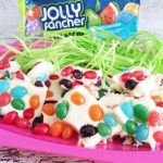 Jelly Bean Fudge with HERSHEY'S JOLLY RANCHER Jelly Beans {Giveaway} #BunnyTrail