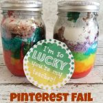 Pinterest Fail: Rainbow Cake in a Mason Jar + Free Printable!