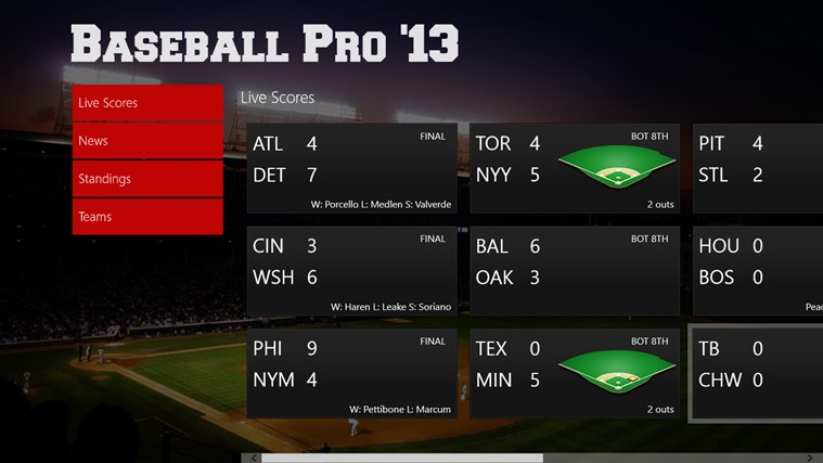 Baseball Pro Windows App