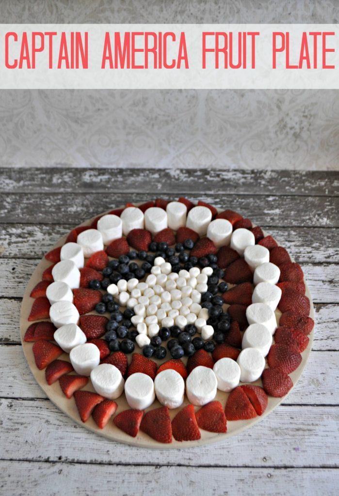 Captain America Fruit Plate Vertical