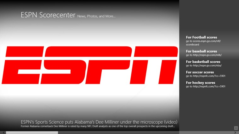 ESPN Windows app