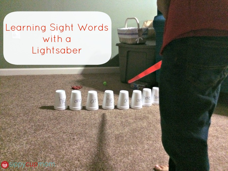 Learning Sight Words Star Wars