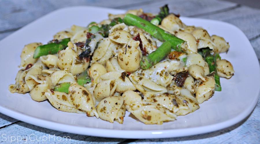 Asparagus Mozzarella Pasta