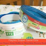 Diaper Genie Elite Keeps a Room Smelling Clean: Diaper Genie Refills vs. Nursery Fresh Refills