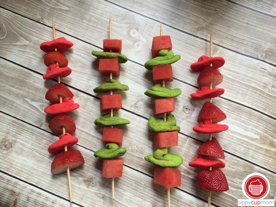 Fruit Kabobs with Peeps Minis