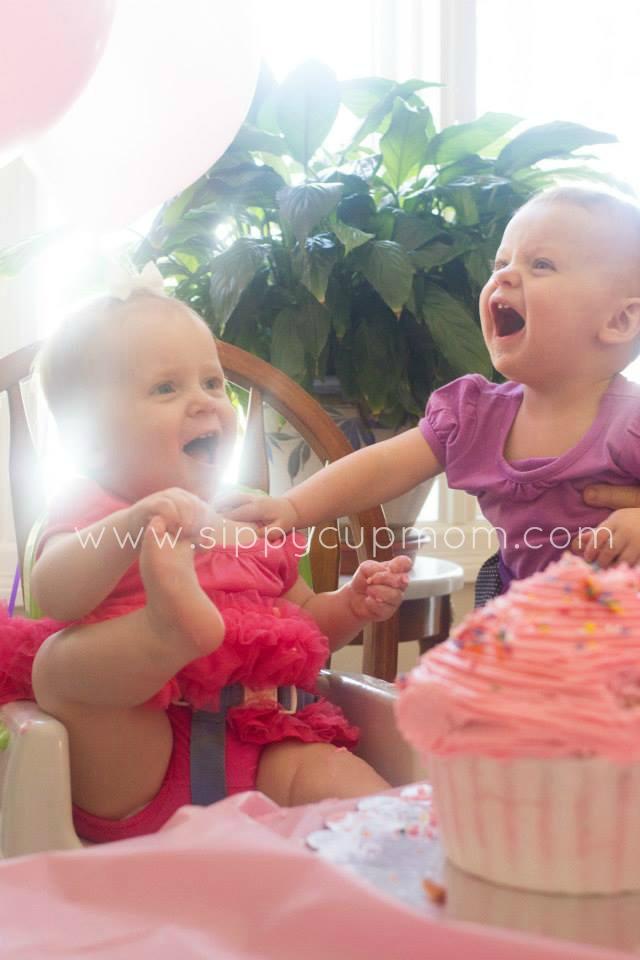 Happy Olivia and Evie Cake