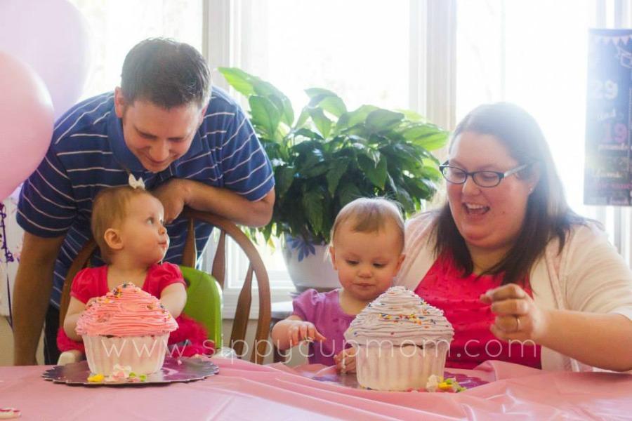 Olivia and Evie Cake Family