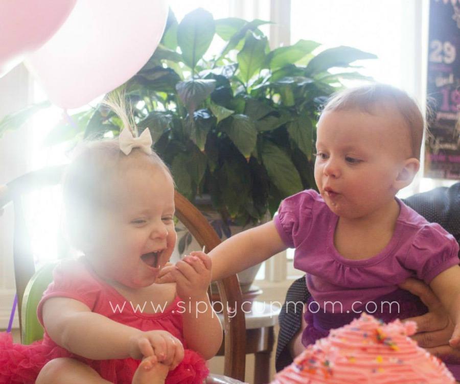 Olivia and Evie Cake