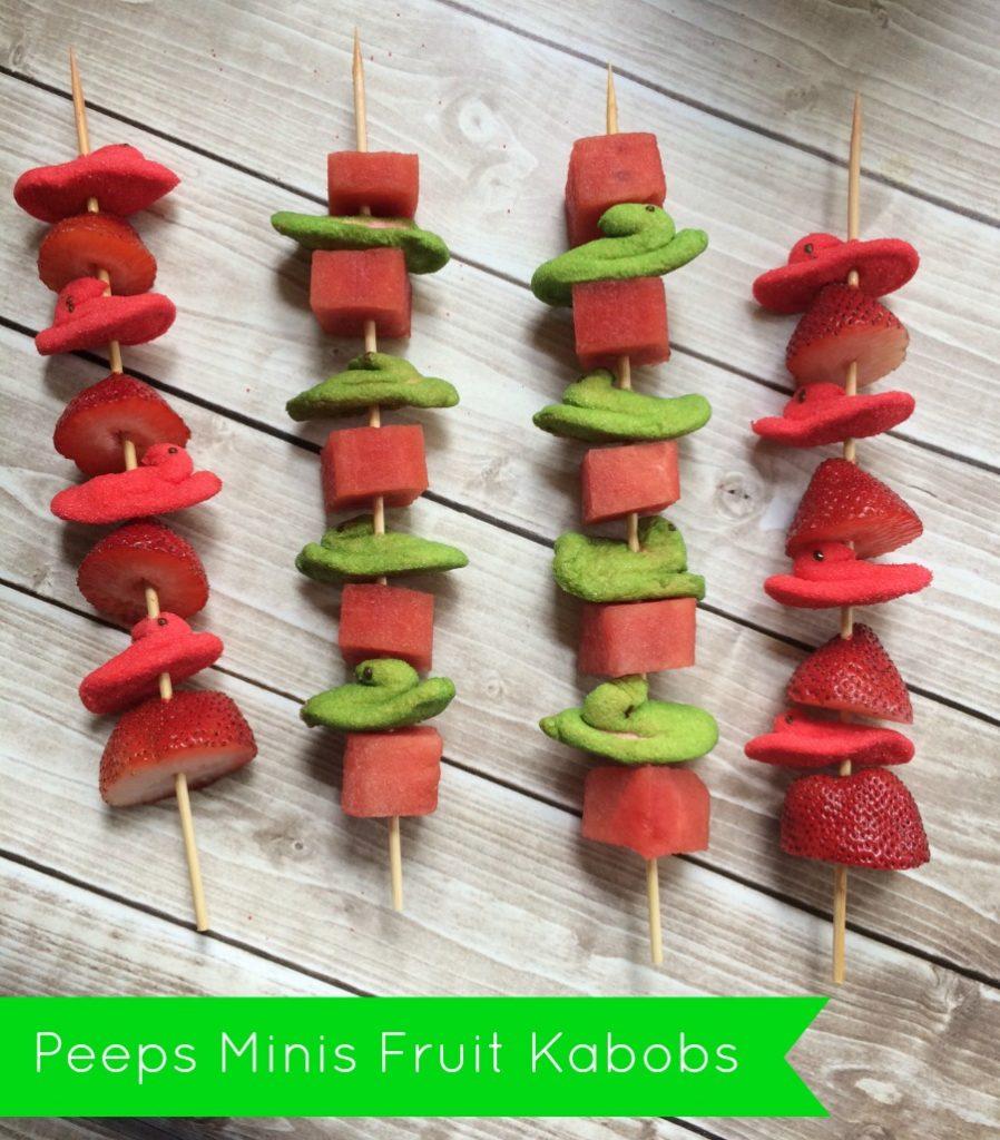 Peeps Minis Fruit Kabobs