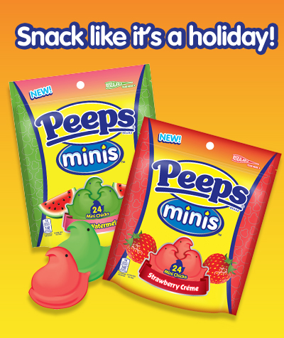 Snack like it's a holiday peeps minis