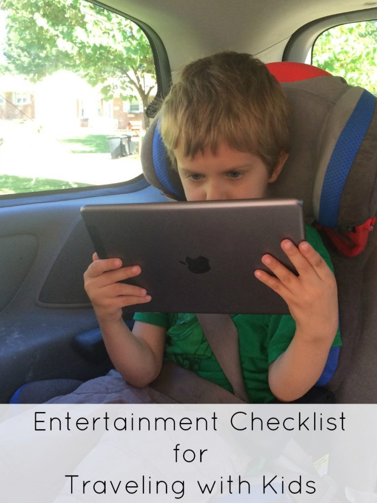 Entertainment Checklist for Traveling with Kids