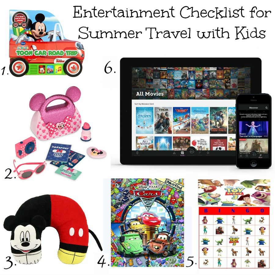 Entertainment Checklist for Summer Traveling with Kids
