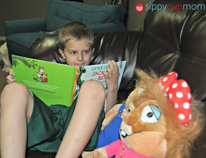 Hayden Reading Little Critter