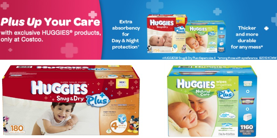 Huggies Plus Diapers and Wipes at Costco