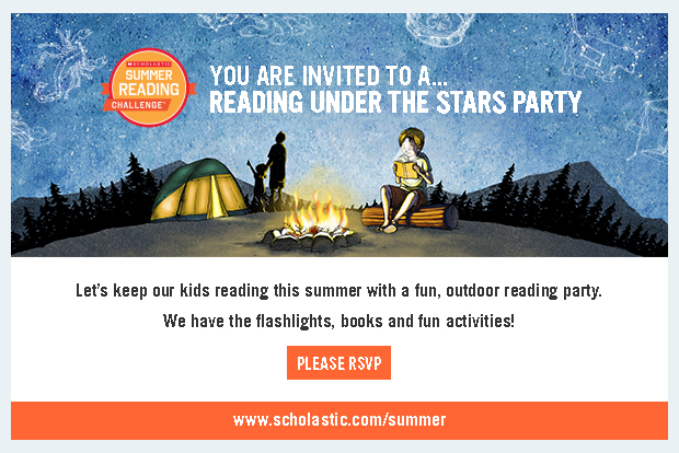Summer Reading Under the Stars Party Invite