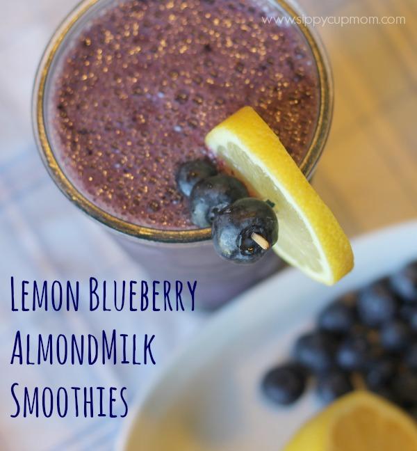Lemon Blueberry AlmondMilk Smoothies #SilkAlmondBlends #shop #cbias