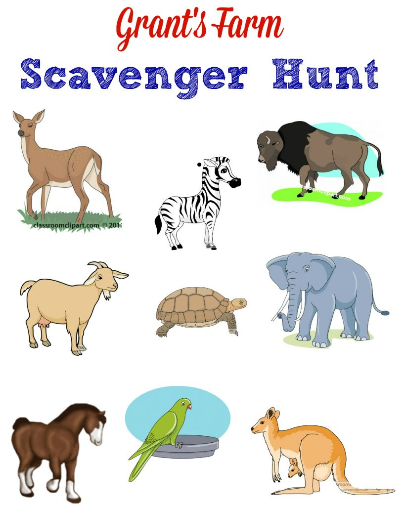 Grant's Farm Scavenger Hunt
