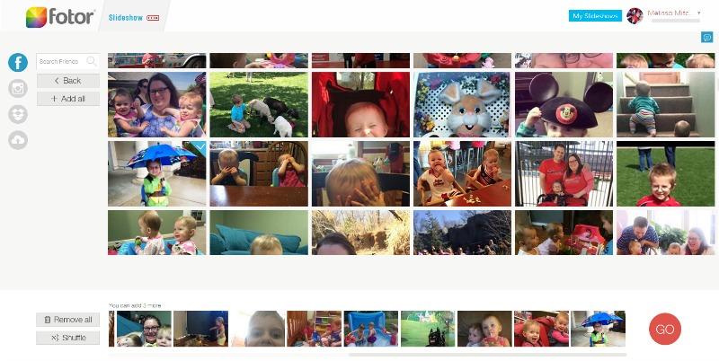 Snapshots Template   Fotor Slideshow