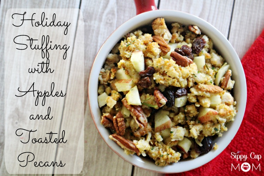 Holiday Stuffing with Apples and Toasted Pecans