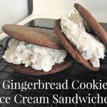 Gingerbread Ice Cream Sandwiches