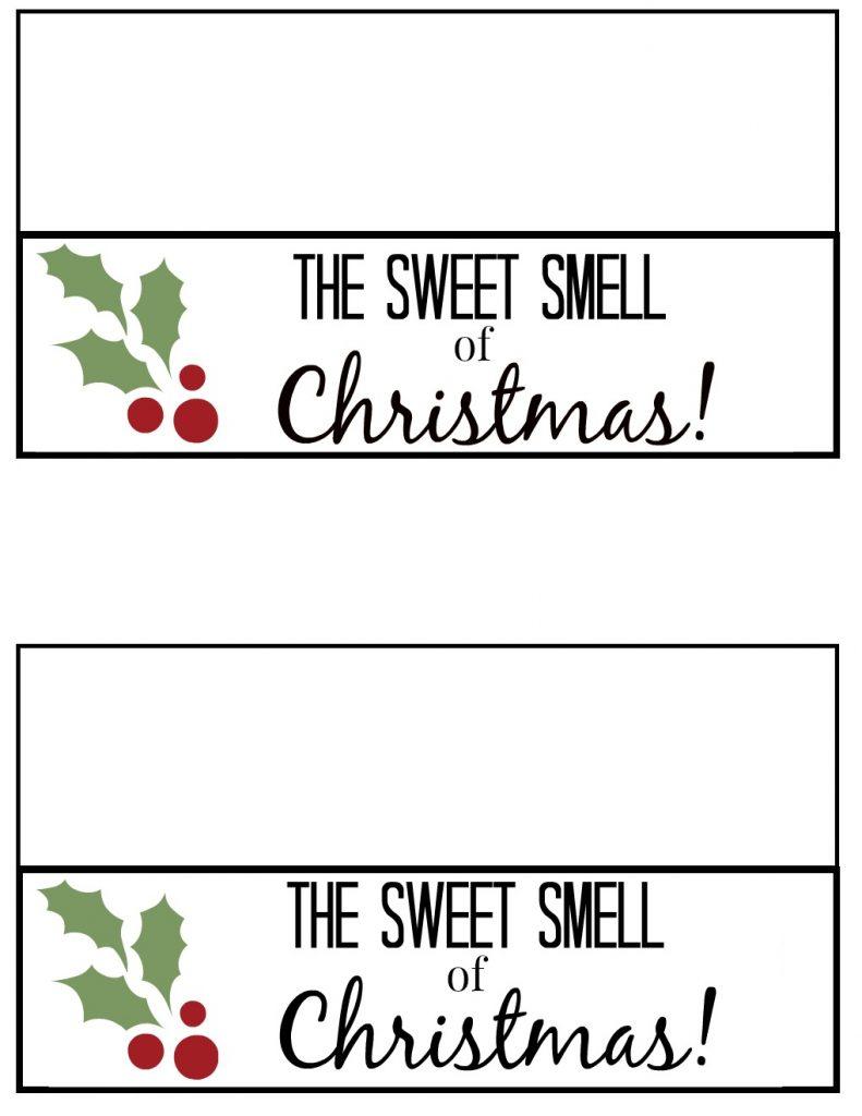 Sweet Smell of Christmas Printable