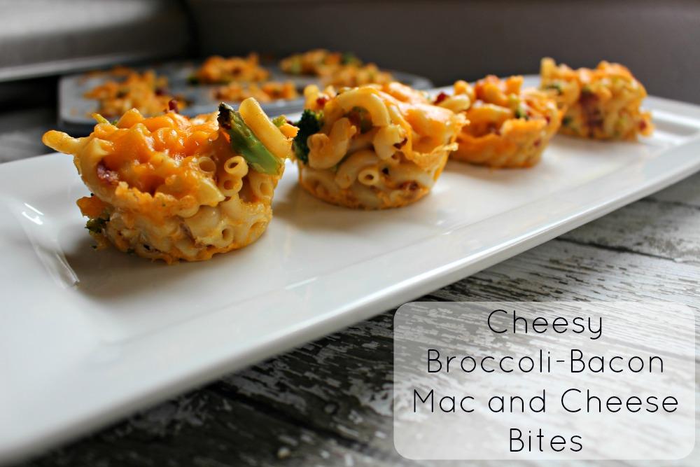 Cheesy Broccoli Bacon Mac and Cheese Bites