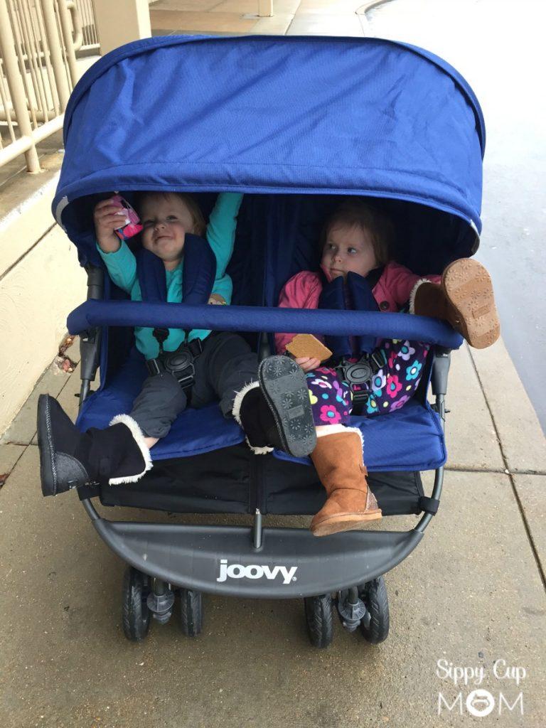 Joovy Stroller in Rain