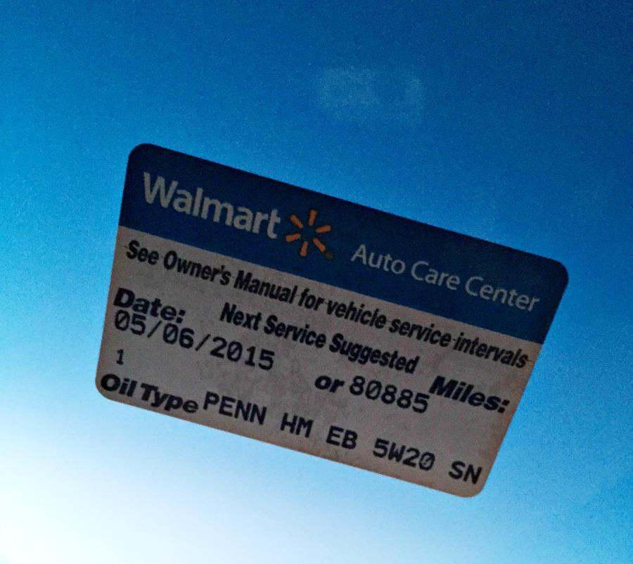 Walmart Auto Sticker