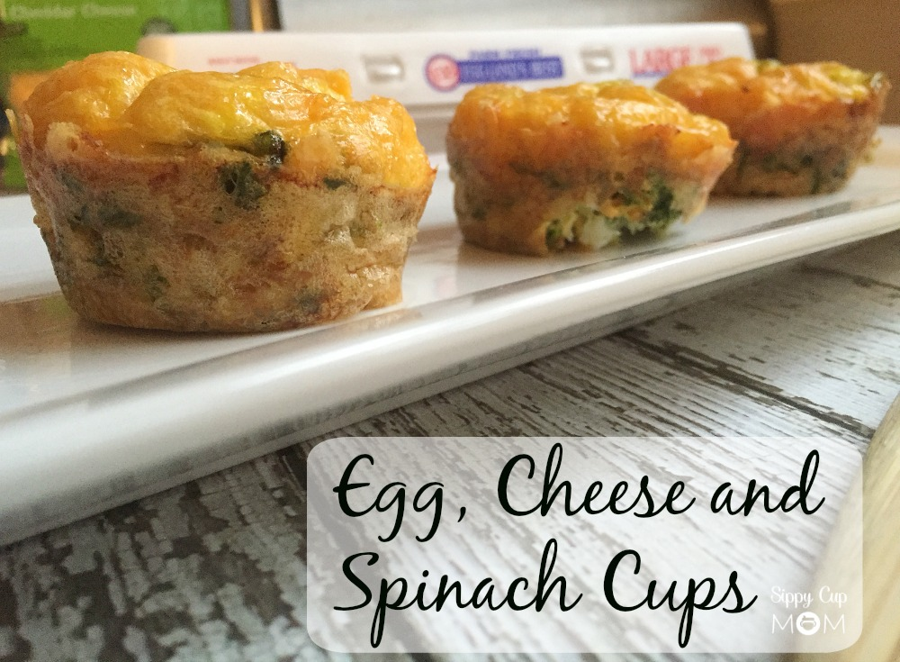 Egg Cheese and Spinach Cups