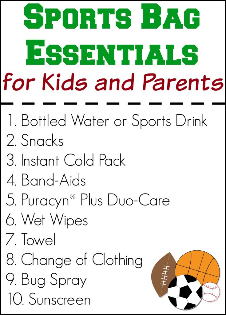 Sports Bag Essentials for Kids and Parents