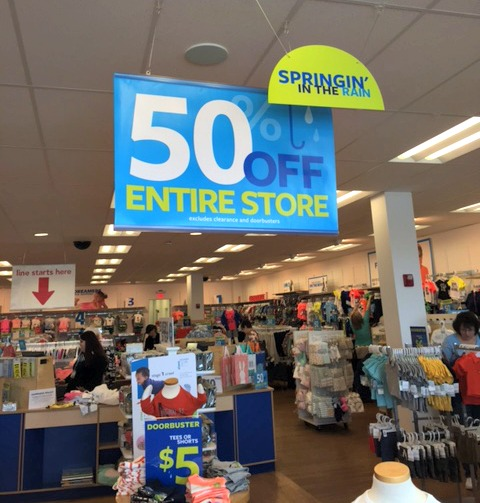 50 off Carters