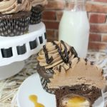 Chocolate Cadbury Egg Cupcakes