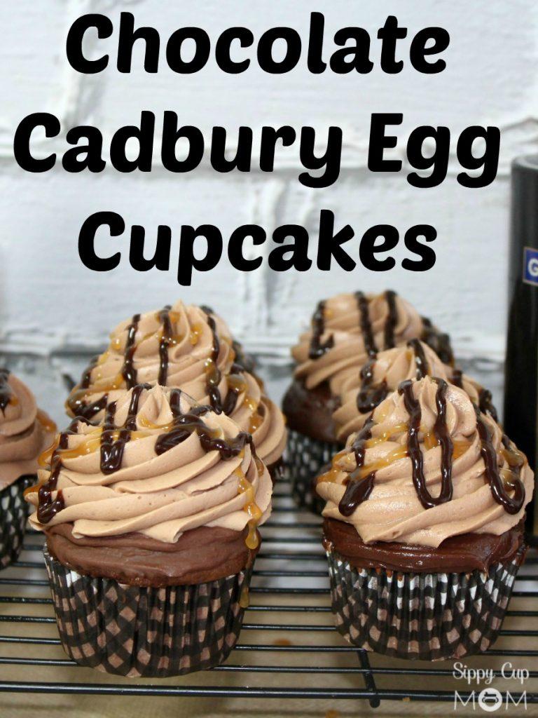 Easter Chocolate Cadbury Egg Cupcakes