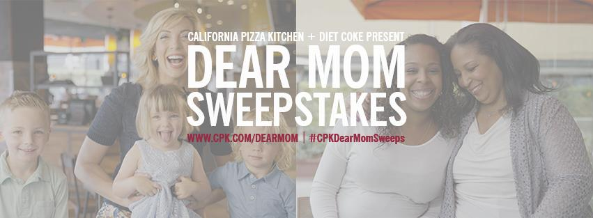 California Pizza Kitchen Dear Mom Sweepstakes