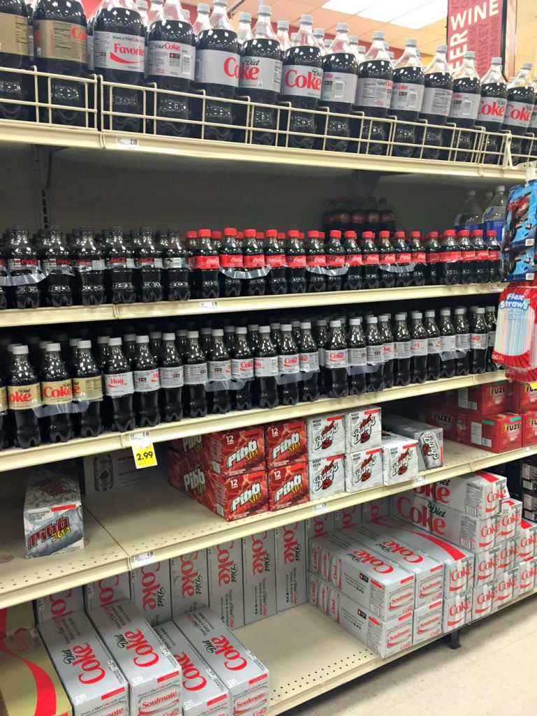 Coke products at Schnucks