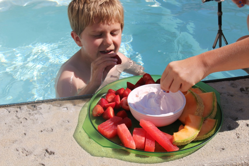 Hayden and Fruit Dip