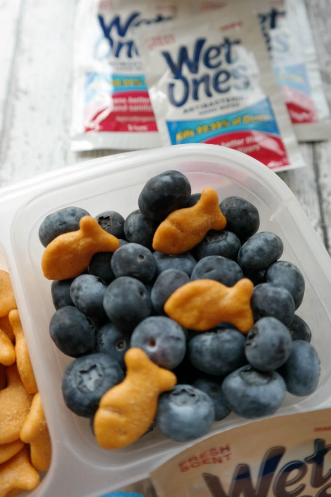 Blueberries and Goldfish