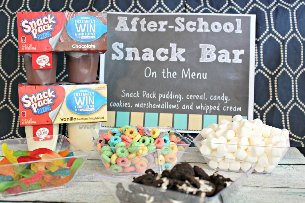 Snack Pack Pudding Snack Bar