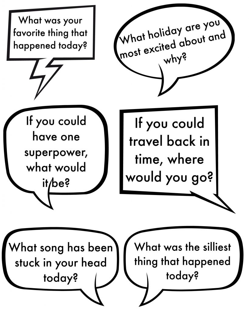 Family Dinner Time Questions