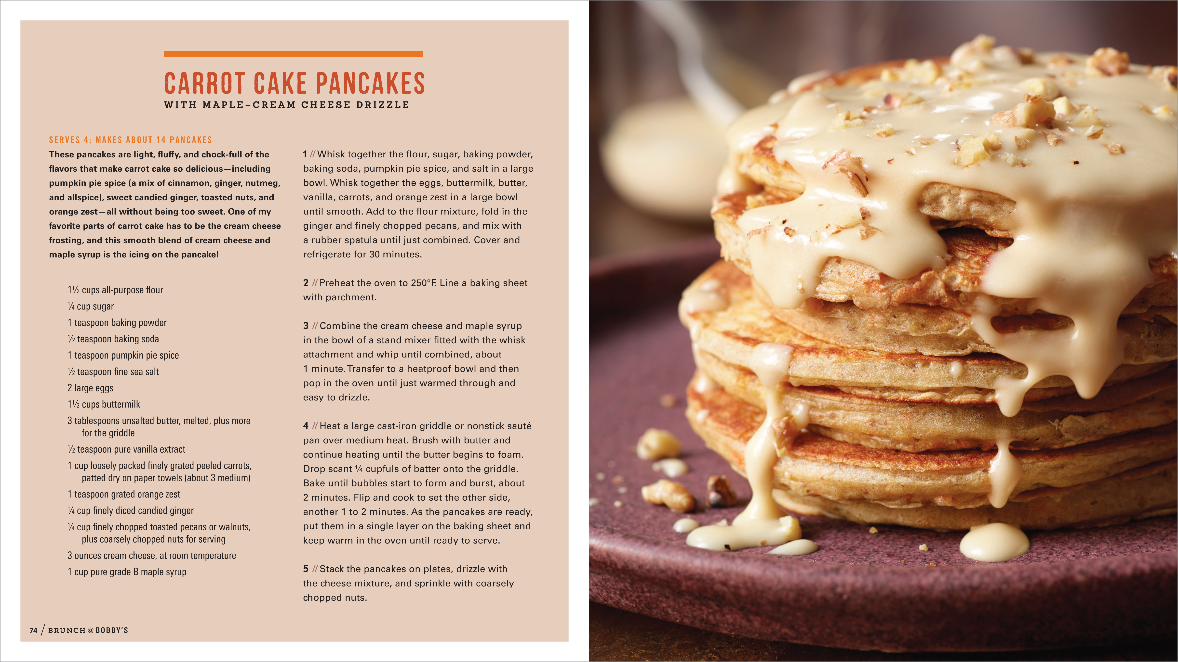 Carrot Cake Pancakes from Bobby Flay